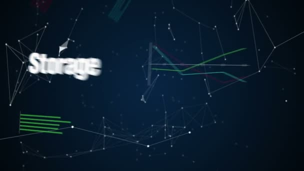 Analytics, Social, Storage, Cloud, Vernetzung, Textanimation Big Data