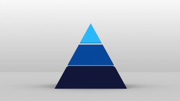 3D Pyramid shape with three  layers, vector Infographic(included alpha)