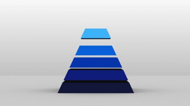 3D Pyramid shape with seven layers, vector Infographic(included alpha)
