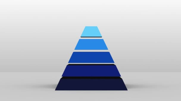 3D Pyramid shape with two layers, vector Infographic(included alpha)