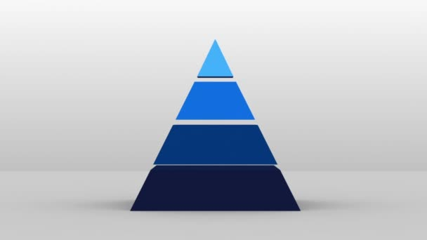 3D Pyramid shape with four layers, vector Infographic(included alpha)