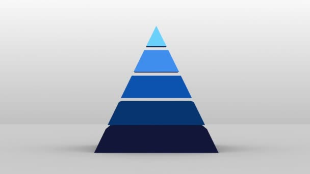 3D Pyramid shape with five layers, vector Infographic(included alpha)