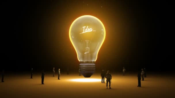 Typo Idea in light bulb and surrounded businessmen, engineers, idea concept(included alpha)