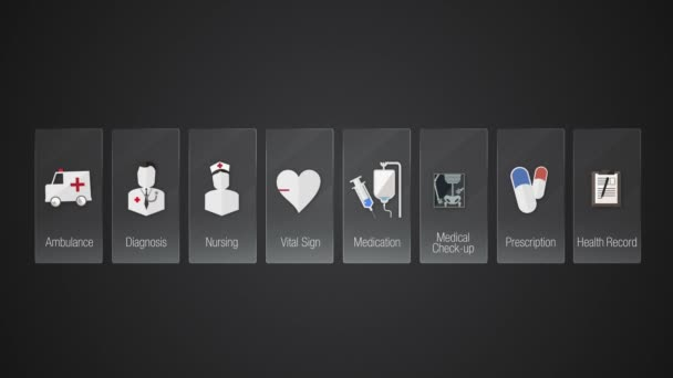 Health Care contents panel. Technology medical care service.Digital display application.