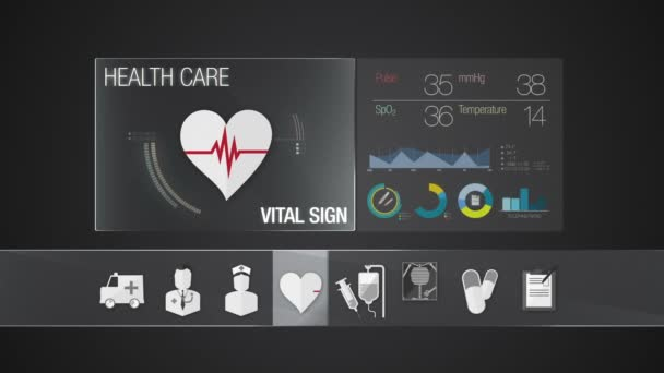Vital Sign icon for Health Care contents. Technology medical care service.Digital display application.