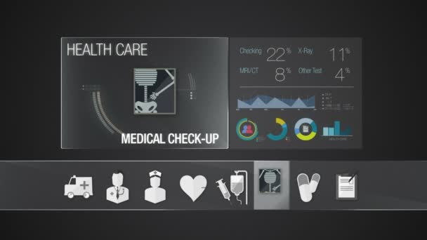 Medical check-up icon for Health Care contents. Technology medical care service.Digital display application.