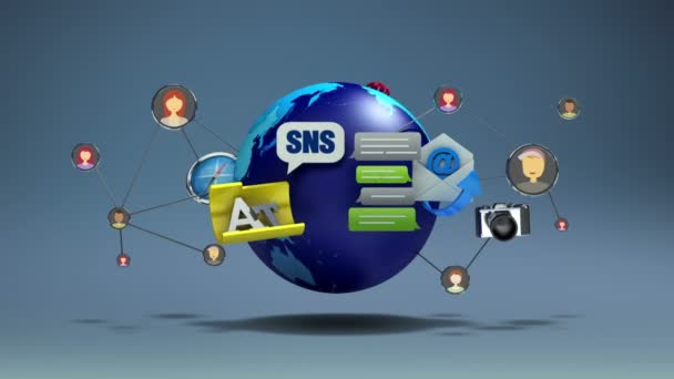 Floating various social network application service contents and global communication(included alpha)