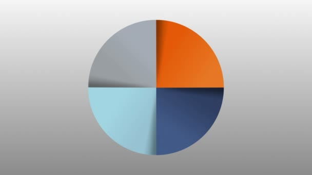 Circle diagram four result category chart for presentation. powerpoint template(included alpha)