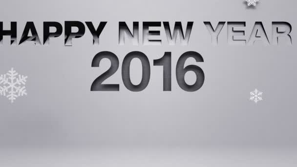 Happy new year 2016  made from paper works (included alpha)