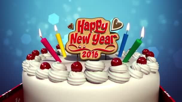 Šťastný nový rok 2016 na oslavu oslavy (včetně alfa)