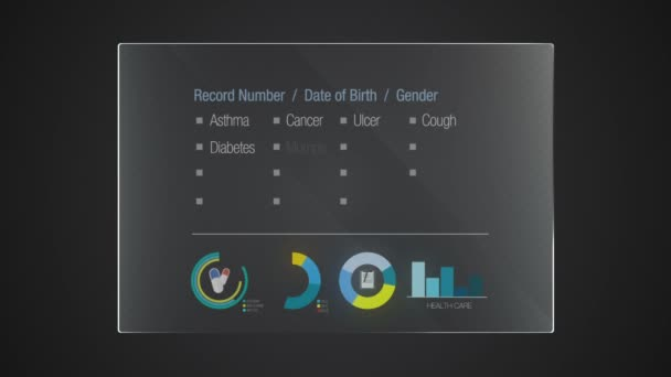 Information graphic technology panel Health Record user interface digital display application(included alpha)