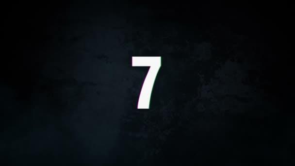Protřepejte číslo odpočítávání animace