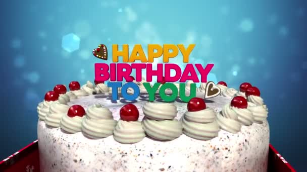 Typo Happy Birthday To You On Cake Included Alpha Video