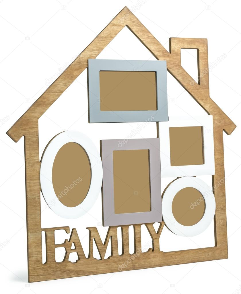 Wooden photo frame House with text Family — Stock Photo © zozulya86 ...
