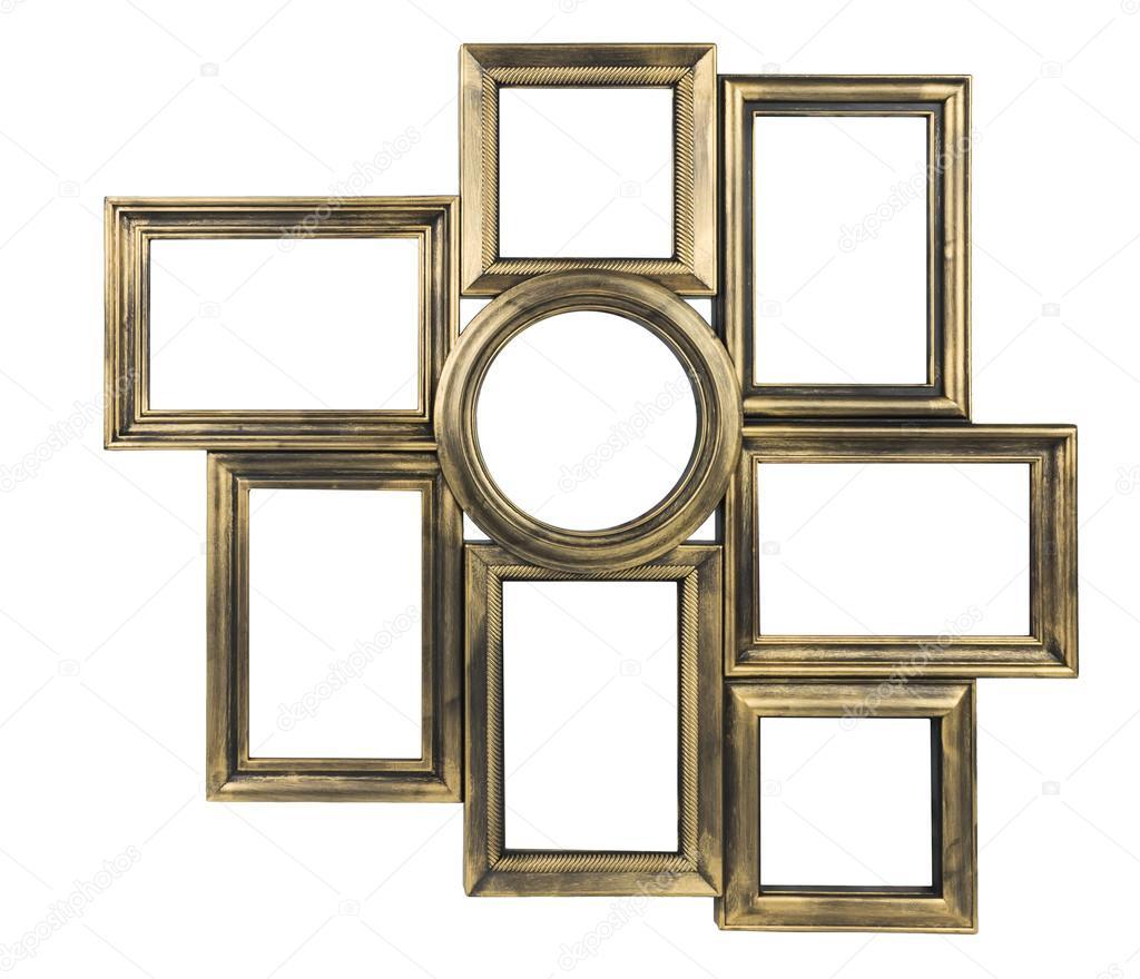Dekorative Bilderrahmen vergoldet — Stockfoto © zozulya86 #103262102
