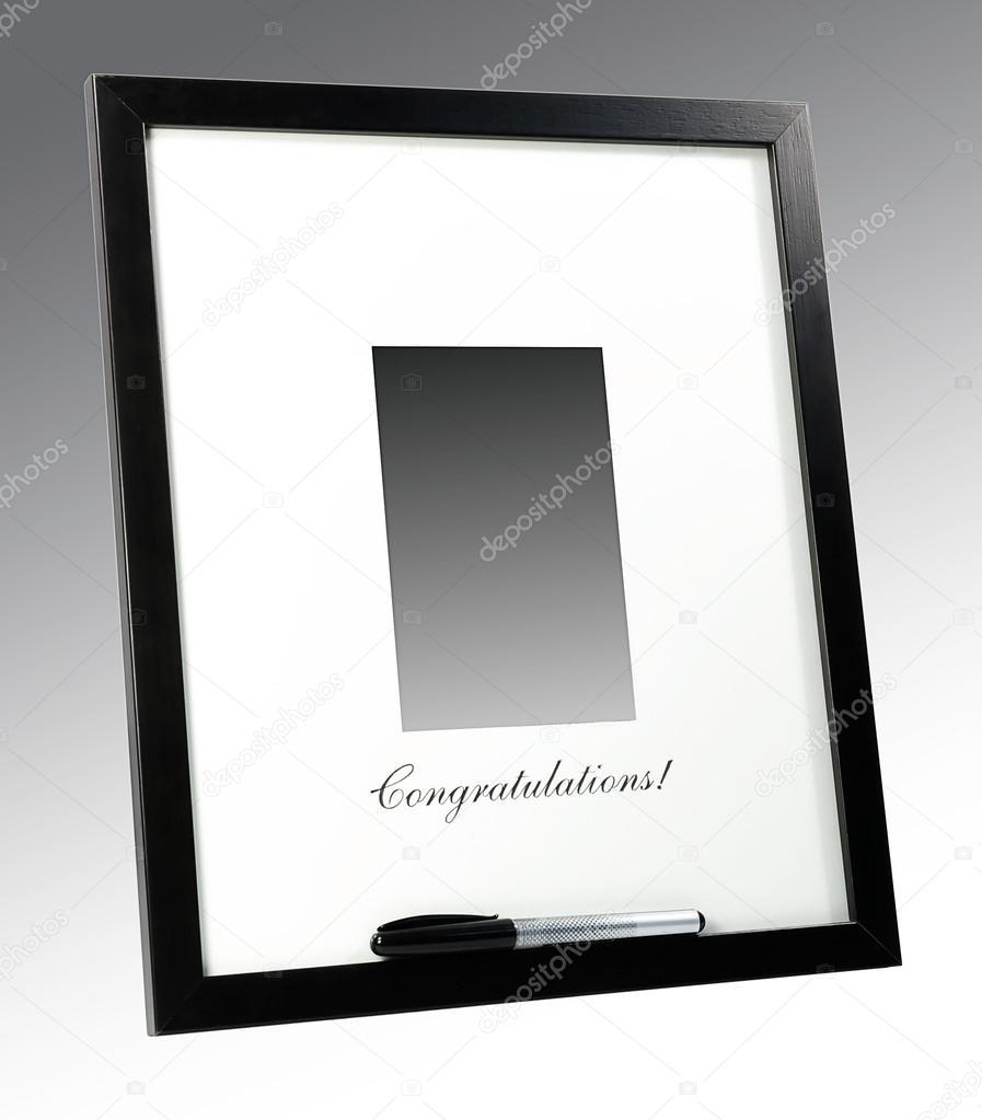 Чёрная рамка для поздравления фото 496
