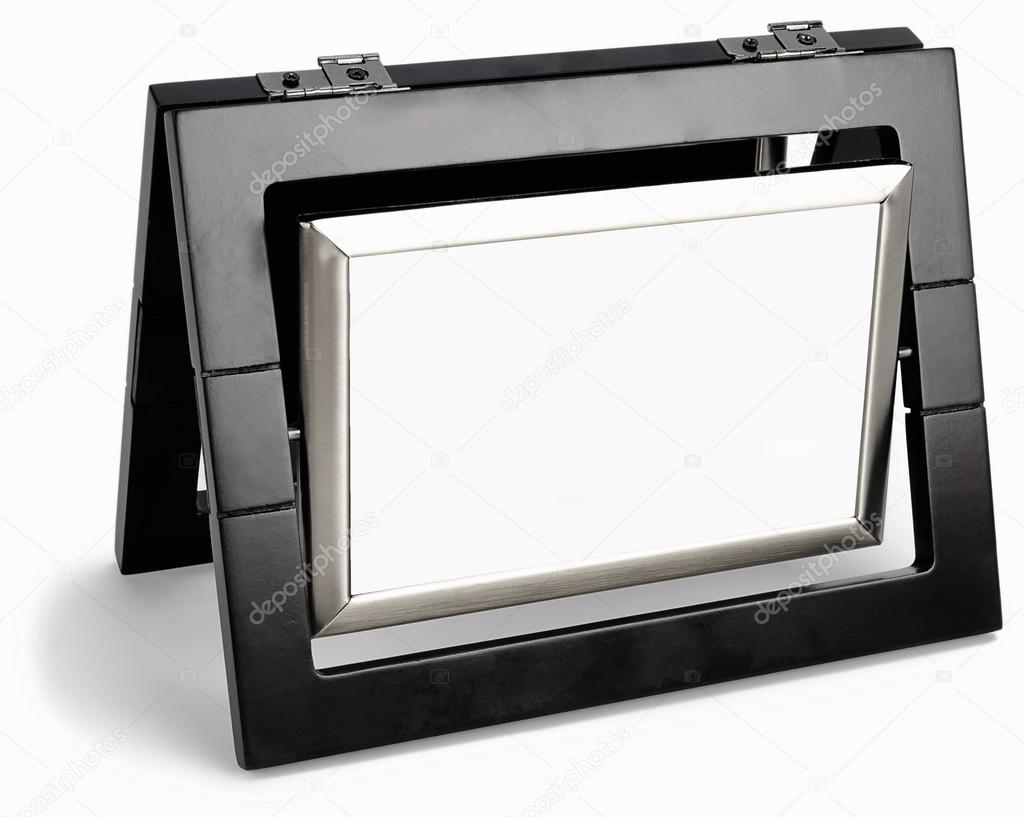 Marco de fotos negro gira en un plano aislado — Fotos de Stock ...
