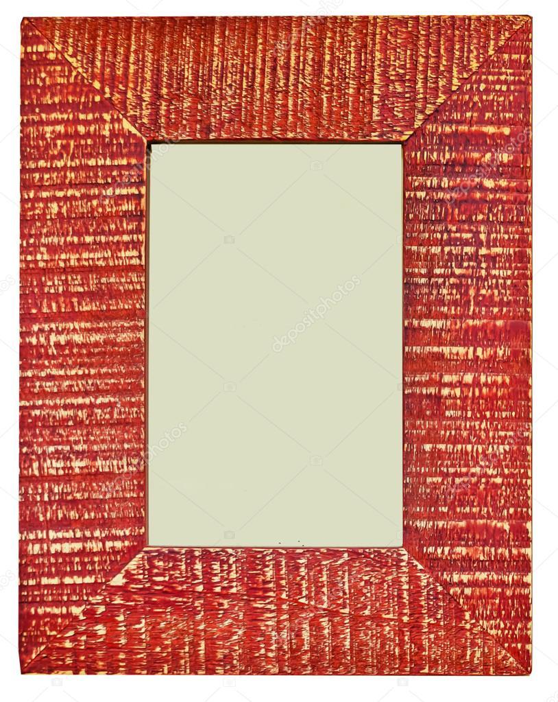 Dekorative rote Bilderrahmen mit leeren Raum auf isolierte ...