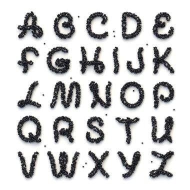 Full alphabet of letters