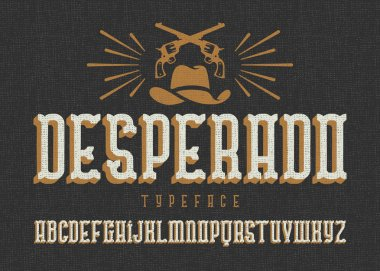 Wild west style font