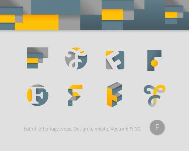 Stylized letter icons