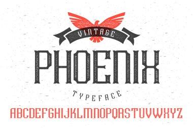 Vintage font Phoenix Typeface