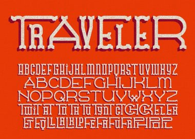 Font with various width