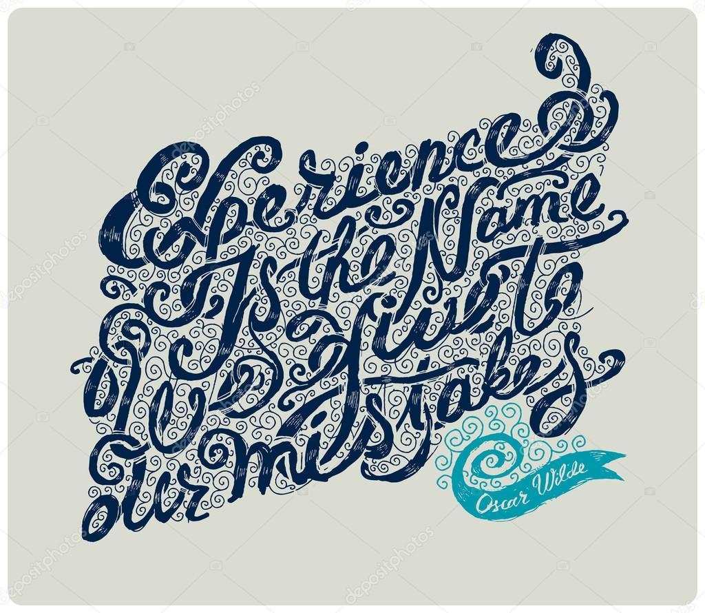 Oscar Wilde Zitat — Stockvektor © Gleb_Guralnyk #69605057