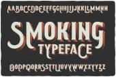 Smoking vintage typeface