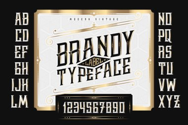 Brandy Label Typeface