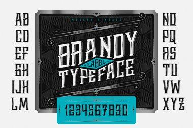 Brandy Label Typeface
