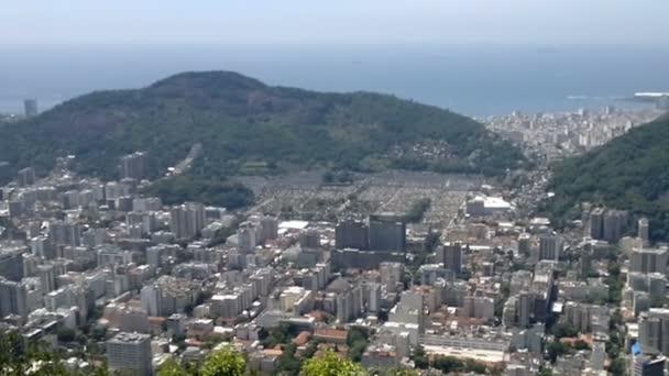 Panoramatický pohled z Rio de Janeiro, Brazílie