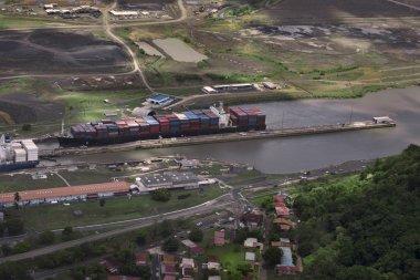 Cargo Ships at Panama Canal