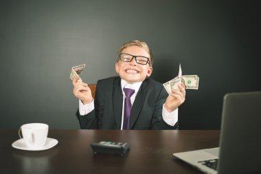 Boy has earned a lot of money