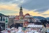 Český krumlov v zimě, den před Vánocemi