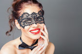 Photo Sexy woman with carnival mask