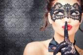 Fotografie Sexy Frau mit Karneval Maske