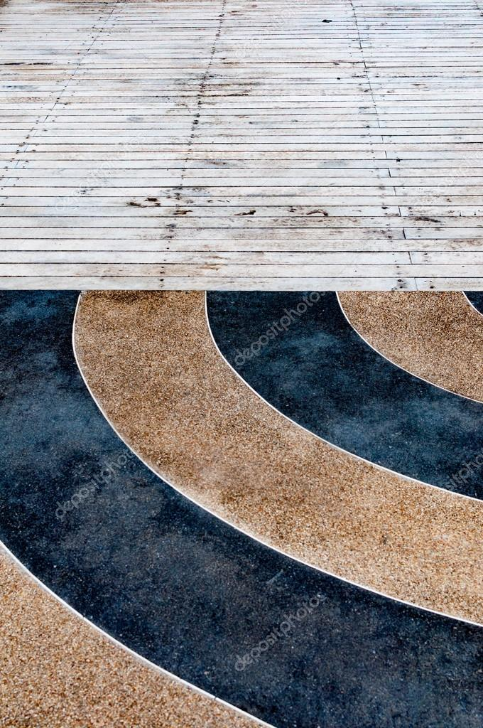 Granite And Wooden Floor Tiled Exterior Decoration Stock Photo C Normalfx 75730957