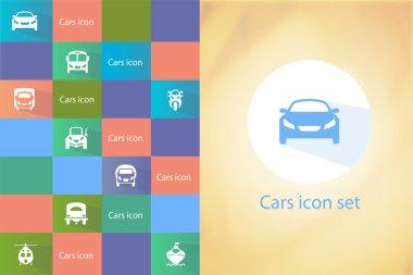 Transports icon set