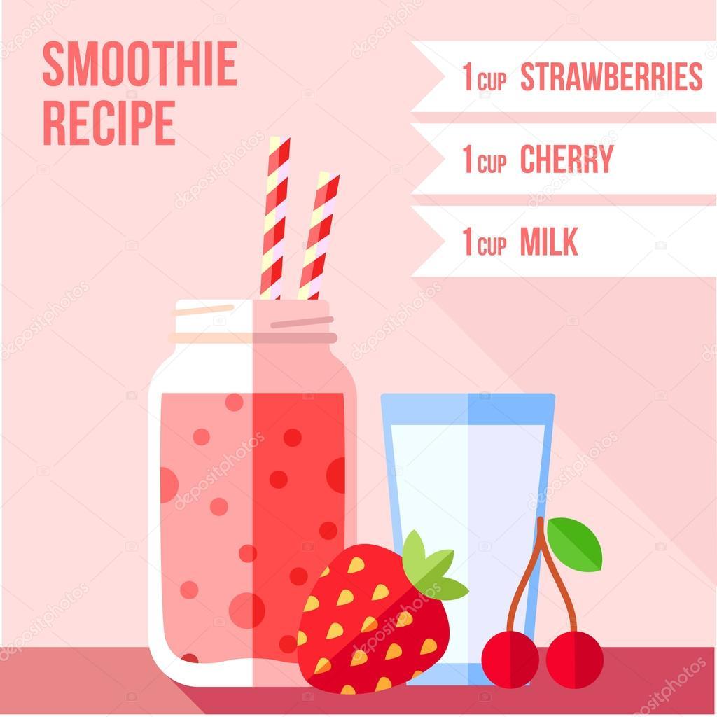 strawberry and cherry smoothie recipe