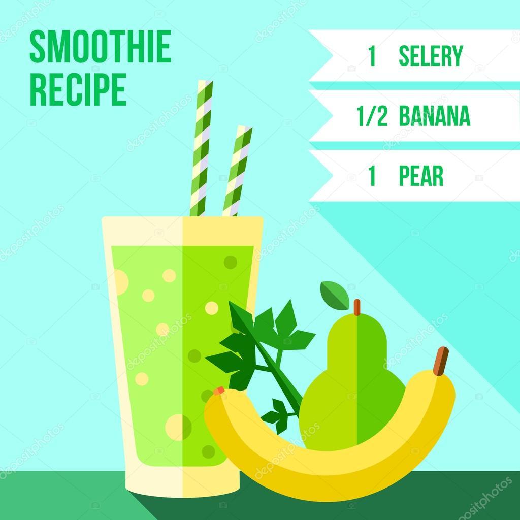pear, celery and banana smoothie recipe