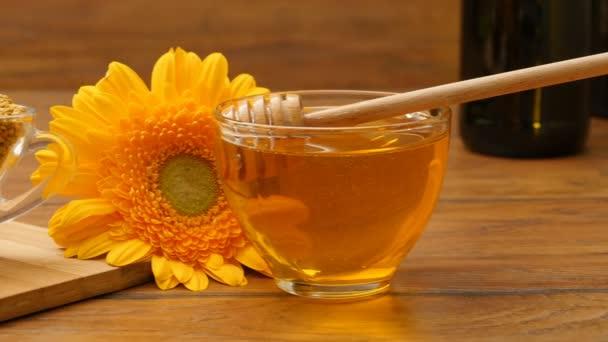 Složení medu, voštinové, ovoce, včelí chléb a květiny (Rl Pan, ne 10.3)
