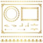 Fotografia set di telaio oro