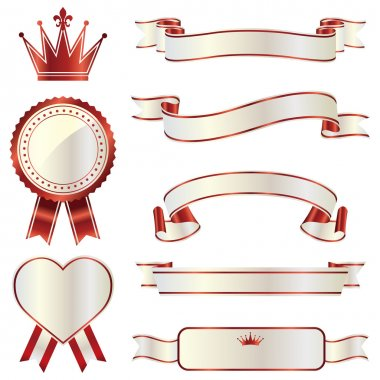 Ribbon emblem set