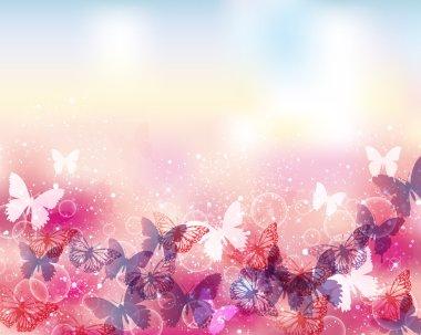 background of butterflies