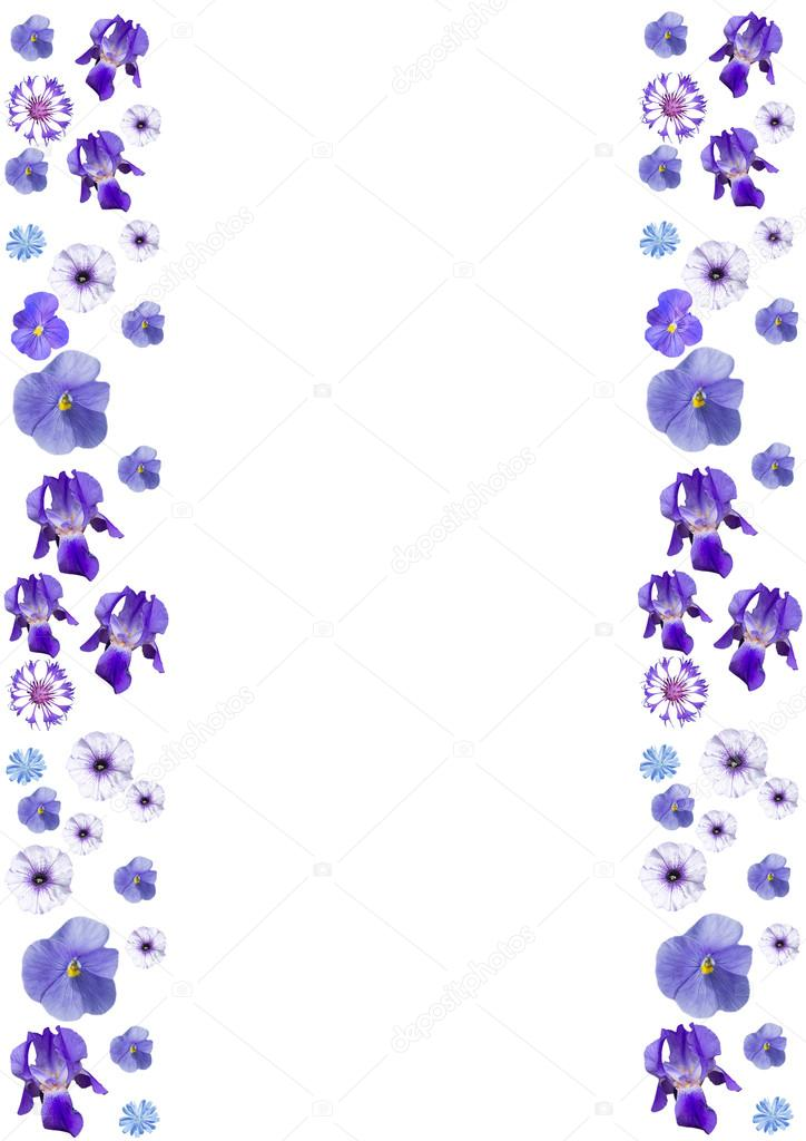 Marco con flores azules, vertical — Foto de stock © wasnoch #112291908