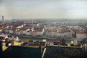 pohled na město Lyon řeky