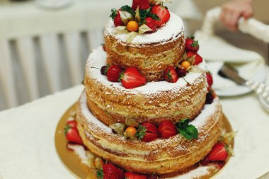 Delicious and tasty wedding cake