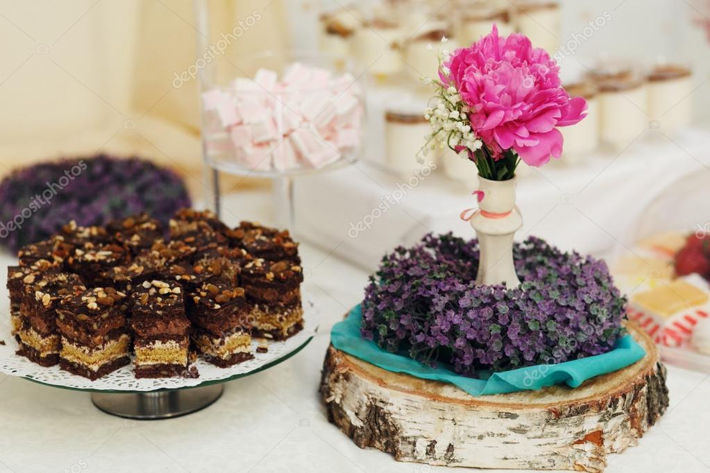 Delicious and amazing dessert table