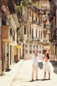 Fotografie Šťastný pár v staré město Havana